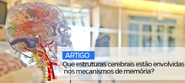 Que estruturas cerebrais estão envolvidas nos mecanismos de memória?